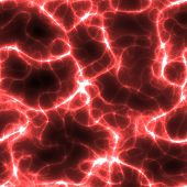 abstract neon red electricity or neuron lines over black, seamlessly tillable as a pattern