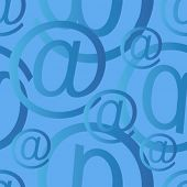 seamless at email sign background pattern, email or spam mail concept
