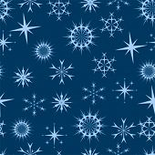stars and snowflakes background that tiles seamlessly as a pattern