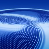 elegant abstract concentric blue ripples with interference and highlight