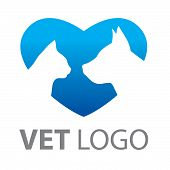 picture of cat dog  - Template for a service mark of veterinary care - JPG