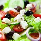 Close up of greek salad