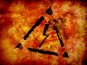 grunge background with high voltage sign, energy