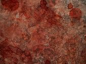 Blood on concrete surface