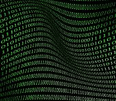 stock photo of binary code  - Binary code - JPG