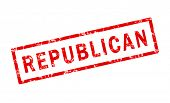 Republican grunge stamp