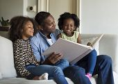 African Descent Family House Home Resting Living poster