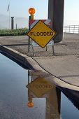 Flooded Sign Reflected