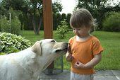Baby, Dog And Ice Cream