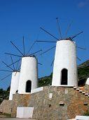 Windmills In The Island Crete