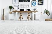 Hipster Home Office Interior poster