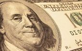 100 Dollar Bill Closeup