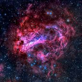 Постер, плакат: The Omega Nebula Swan Nebula In The Constellation Sagittarius