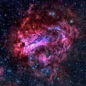 Постер, плакат: The Omega Nebula Swan Nebula In The Constellation Sagittarius