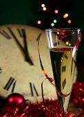 Champagne glasses for new year on sylvester