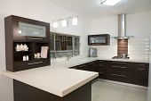 dinner room modern design / luxury kitchen