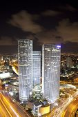 Night city, Azrieli center, Israel