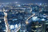 Ciudad de la noche en Tel Aviv en la noche, Israel