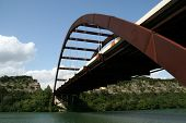 The Austin 360 bridge from an artistic view.