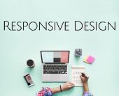 Responsive Web Design Graphic Word poster