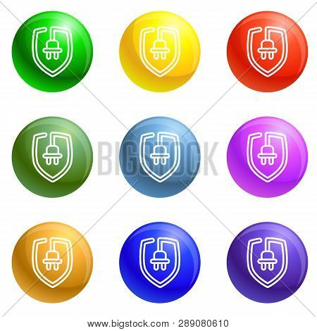 Eco Plug Shield Icons 9