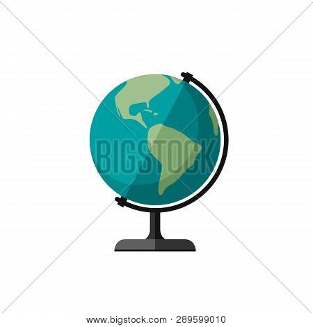 Globe Of Planet Earth Flat