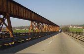 Train Track On Mississippi River Bridge