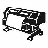 Large Format Printer Icon. Simple Illustration Of Large Format Printer Icon For Web Design Isolated  poster