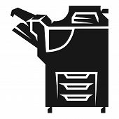 Large Office Copier Icon. Simple Illustration Of Large Office Copier Icon For Web Design Isolated On poster