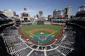 Petco Park Panoramic - home of the major league baseball team San Diego Padres.