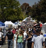 Carlsbad Street Faire 2007. A village swap meet that draws thousands of people in this Southern California town