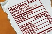 Nutrition Facts - the label on a soda can