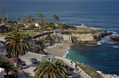 Coastal view of scenic La Jolla, California near San Diego.