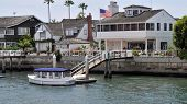 Bay-front homes in Newport Beach, California (USA)