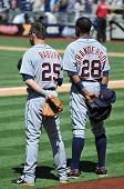 June 22nd, 2008 - Detroit Tiger's Players Raburn and Granderson taken at Petco Park during a game wi