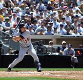 June 22nd, 2008 - Magglio Ordonez of the Detroit Tigers hitting at a game at San Diego's Petco Park