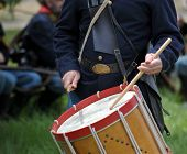 VISTA, CALIFORNIA - APRIL 17: American Civil War (1861-1865) is reenacted by a drummer on April 17,