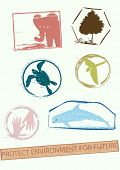 environment stamps