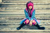 picture of lolita  - Young asian sad girl with cosplay looking - JPG