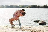 Loving Young Couple Kissing And Hugging In Outdoors. Love And Tenderness, Dating, Romance, Family, poster