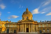 Central Dome Of Institut De France Building, A French Learned Society Group Of Five Academies In Par poster