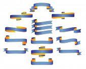 Ribbons, scrolls, banners - editable vector illustrations