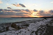 Wintry Beach Horizontal