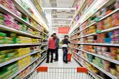 foto of supermarket  - Shopping at the supermarket - JPG