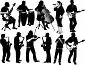 Eleven Music Silhouettes