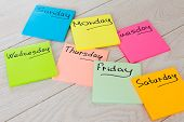Plan Of The Week On Stickers. Colored Stickers. Office Forms And Blank Stickers. poster