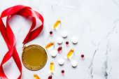 Concept Of Doping In Sport - Deprivation Medals Top View poster