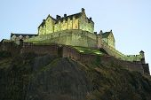 Detail Of Edinburgh Castle, From The North West, At Nightfall