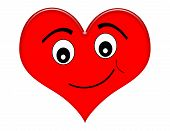 Cartoon Heart With Smile
