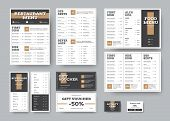 Vector Menu Templates For Cafes And Restaurants In White With Black Blocks. poster